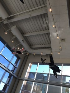 Airplanes, among other exhibits.